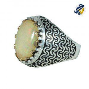 انگشتر سنگ اوپال صدفی هفت رج