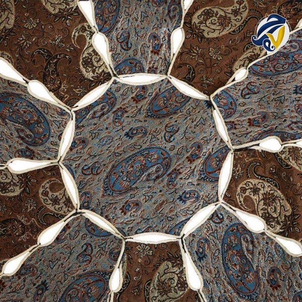 رومیزی دایره ترمه هفت رج