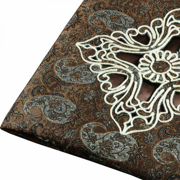 رومیزی ترمه مربع قیطان هفت رج