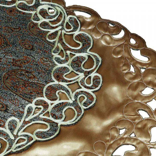 ست چهار تکهی رومیزی بیضی ترمه هفت رج