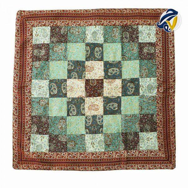 رومیزی ترمهی مربع چهل تکه هفت رج