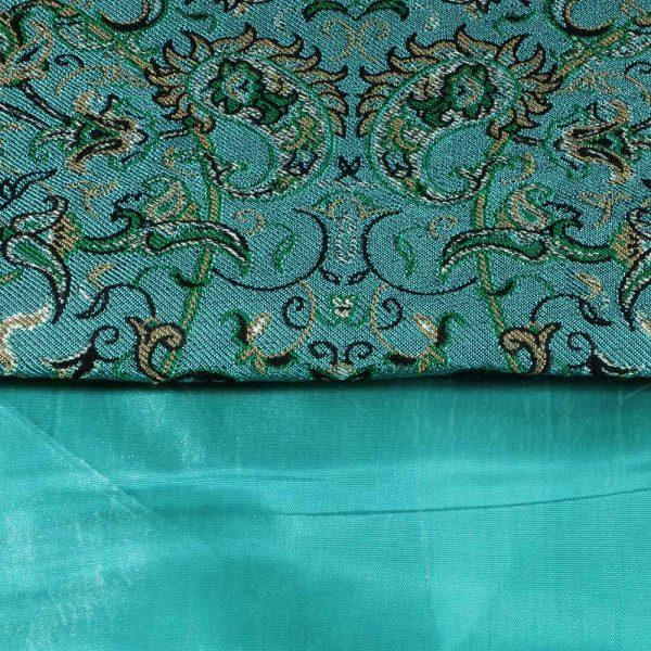 رومیزی رانری بلند ترمه ابریشم حسینی یزد هفت رج