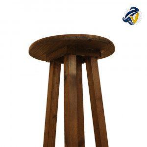 چهارپایهی گرد چوبی هفت رج
