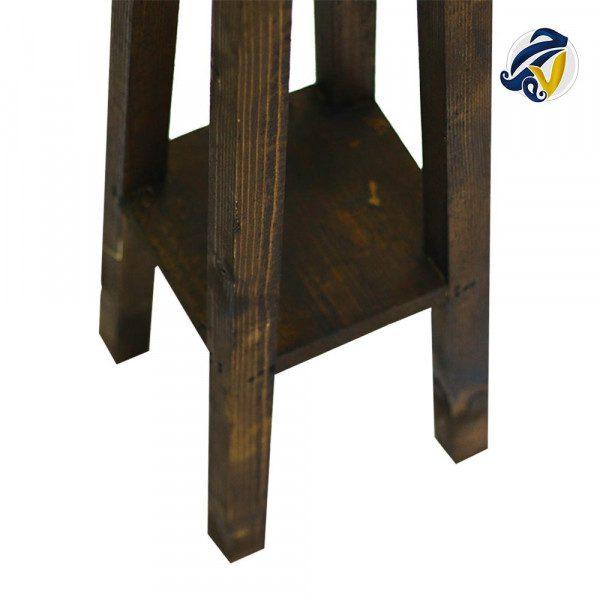 چهارپایهی مربع چوبی هفت رج