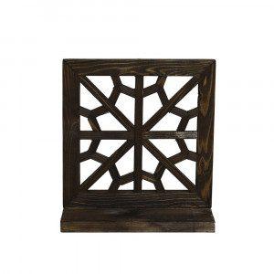 طاقچهی مشبک چوبی هفت رج