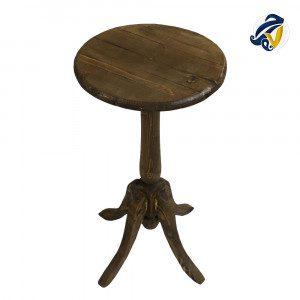 میز گرد چوبی هفت رج