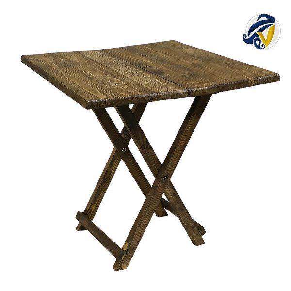 میز تاشوی چوبی هفت رج
