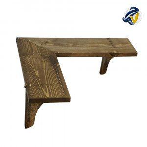 طاقچهی کنجی چوبی هفت رج