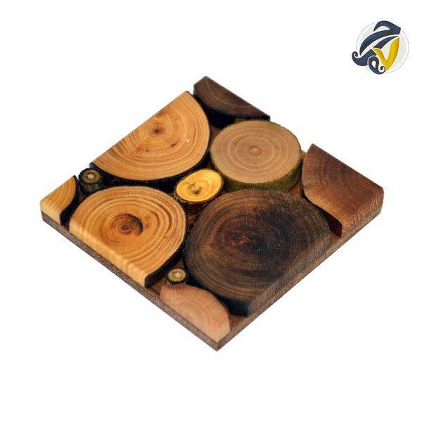 زیرلیوانی چوبی