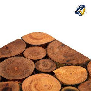 زیر بشقابی و زیر دیگی چوبی