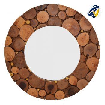 آینه دیواری چوبی
