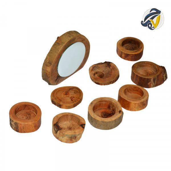 هفت سین چوبی طرح روستیک